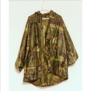 Army Fatigue Camo Rain Coat